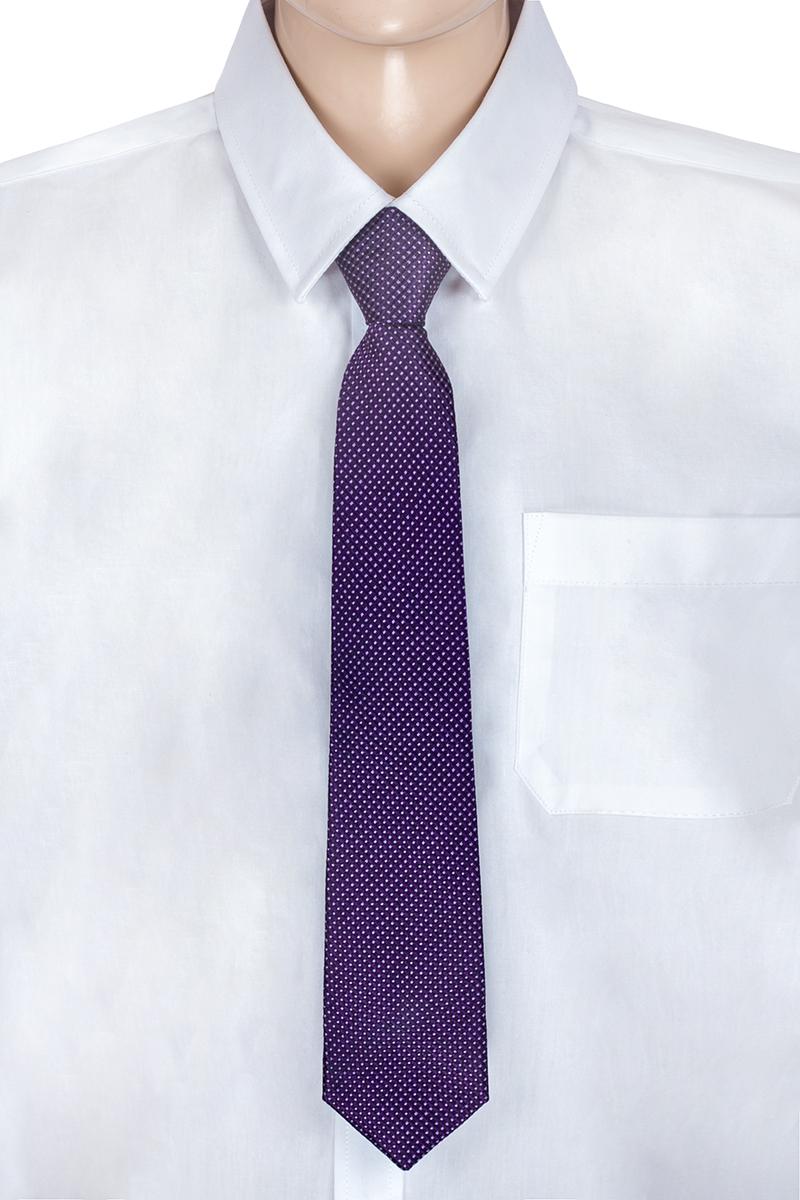 Галстук для мальчика Brostem, цвет: фиолетовый, белый. RKCAL12-12. Размер универсальныйRKCAL12-12Модный галстук для мальчика Brostem изготовлен из полиэстера. Обхват шеи регулируется с помощью пластикового фиксатора. Галстук оформлен оригинальным принтом.