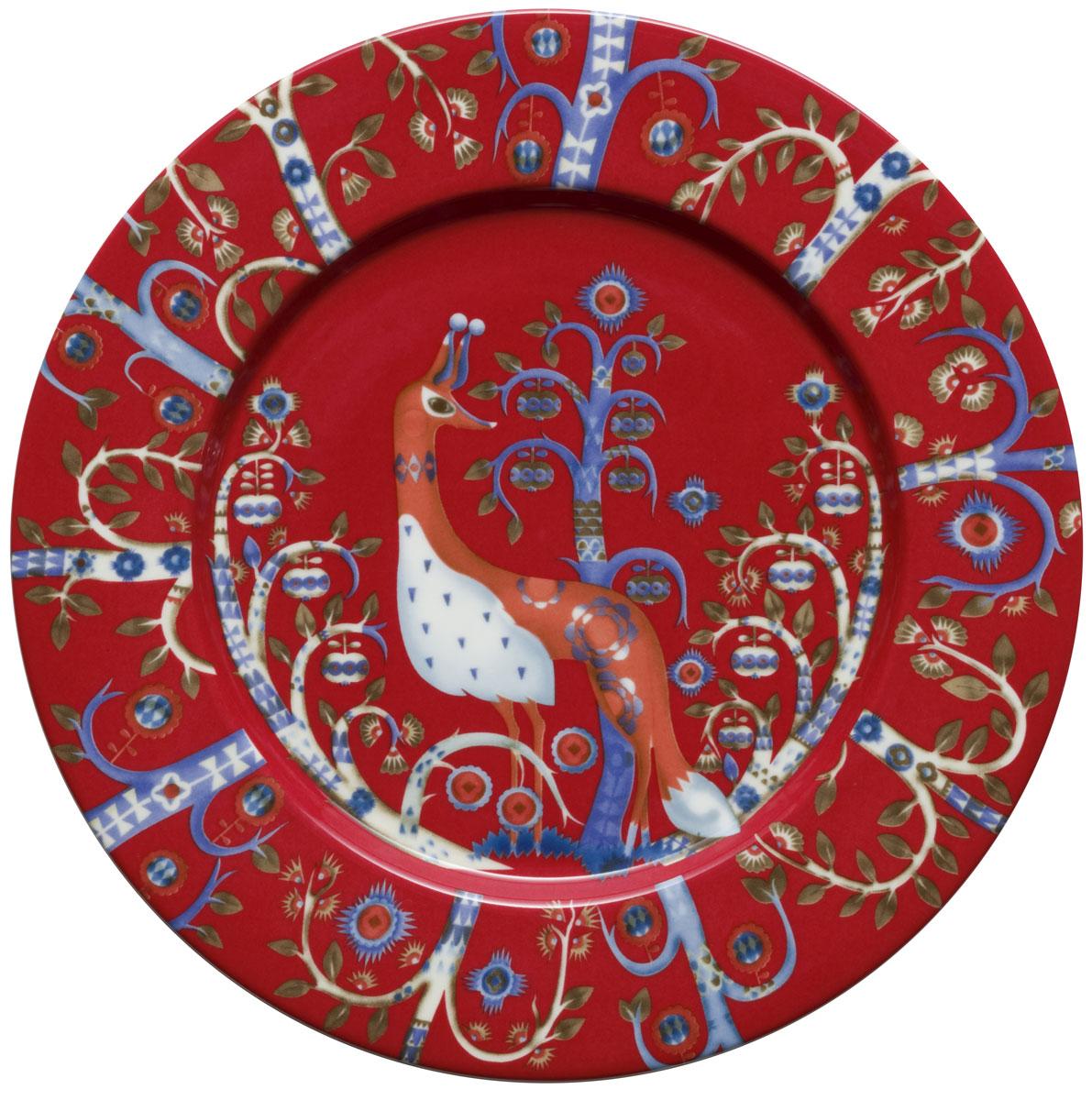 Тарелка Iittala Taika, цвет: красный, диаметр 22 см1012477