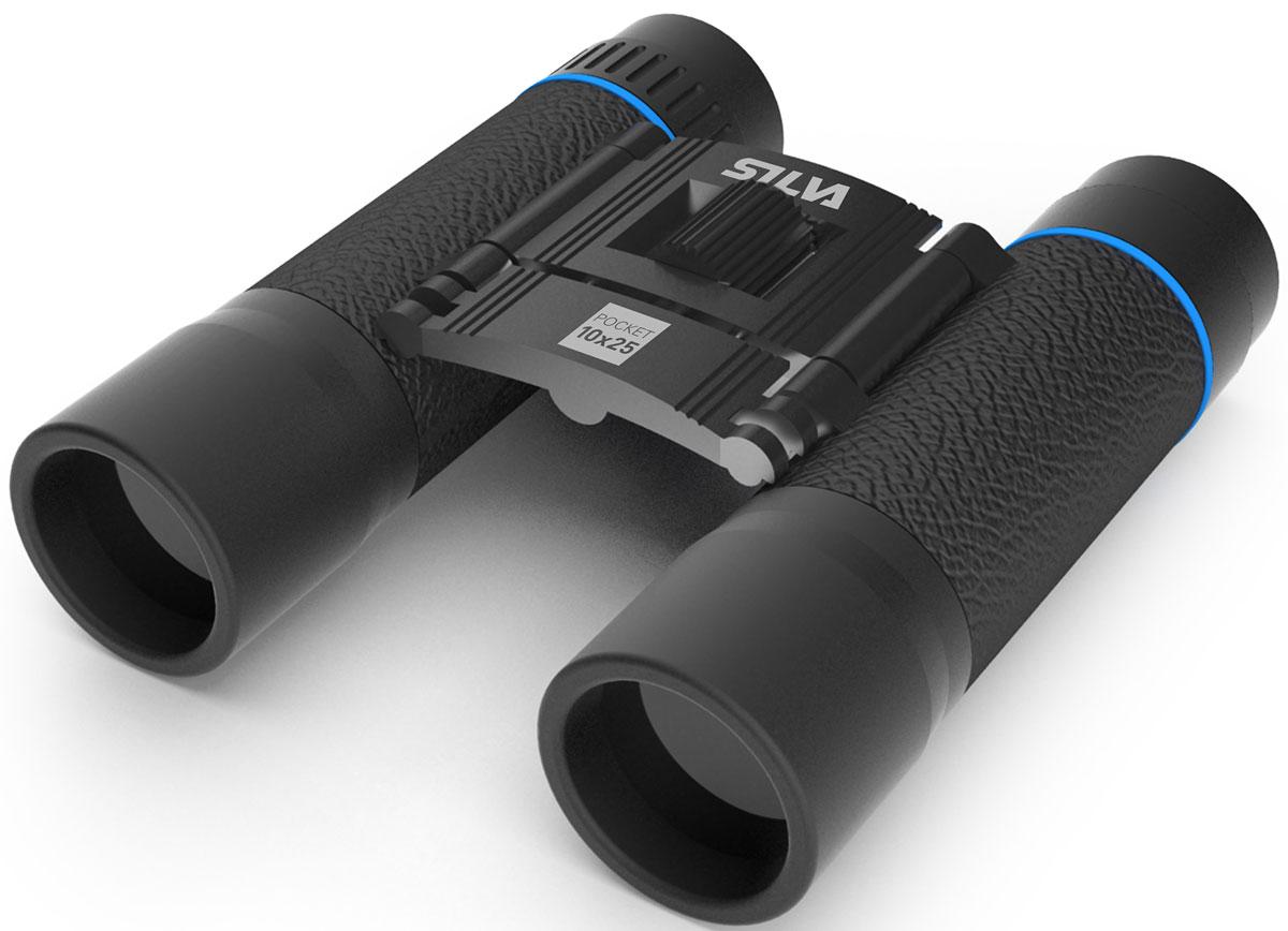 Бинокль Silva Binocular Pocket 10, цвет: черный881025-1Увеличение: x10Диаметр объектива: 25mmПоле зрения: 96mПризма Тип: BK-7