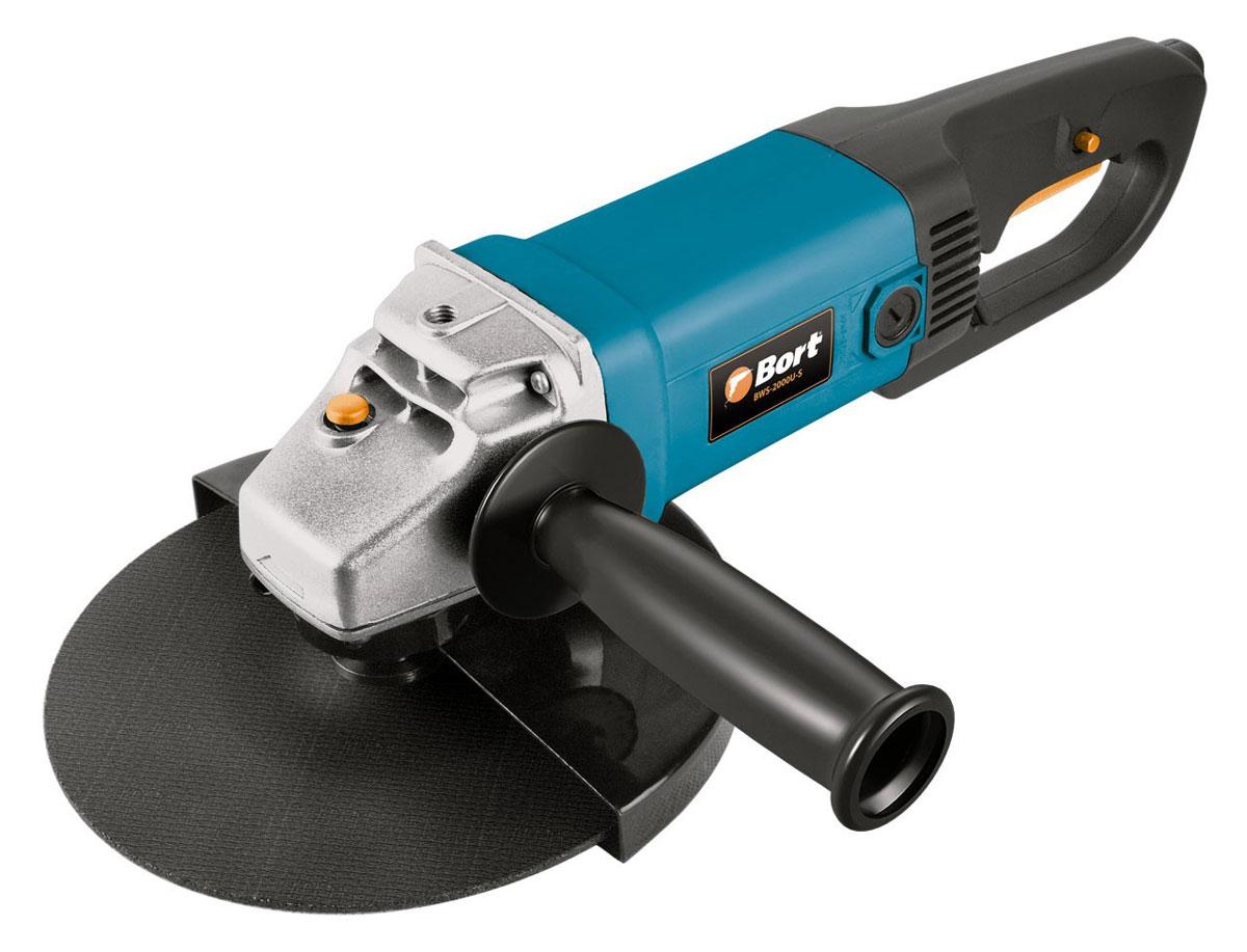 Шлифмашина угловая Bort BWS-2000U-SBWS-2000U-S BlueМашина шлифовальная угловая Bort BWS-2000U-S применяется в ремонте и строительстве для выполнения шлифовальных и отрезных работ по камню и металлу. Инструмент прост в обслуживании и управлении. Блокировка шпинделя обеспечивает быструю и удобную смену диска. Фиксация выключателя для продолжительной работы. Выполнение работы в условиях ограниченного пространства. Удобная рукоятка предотвращает скольжение инструмента в руке, обеспечивая удобство в работе.