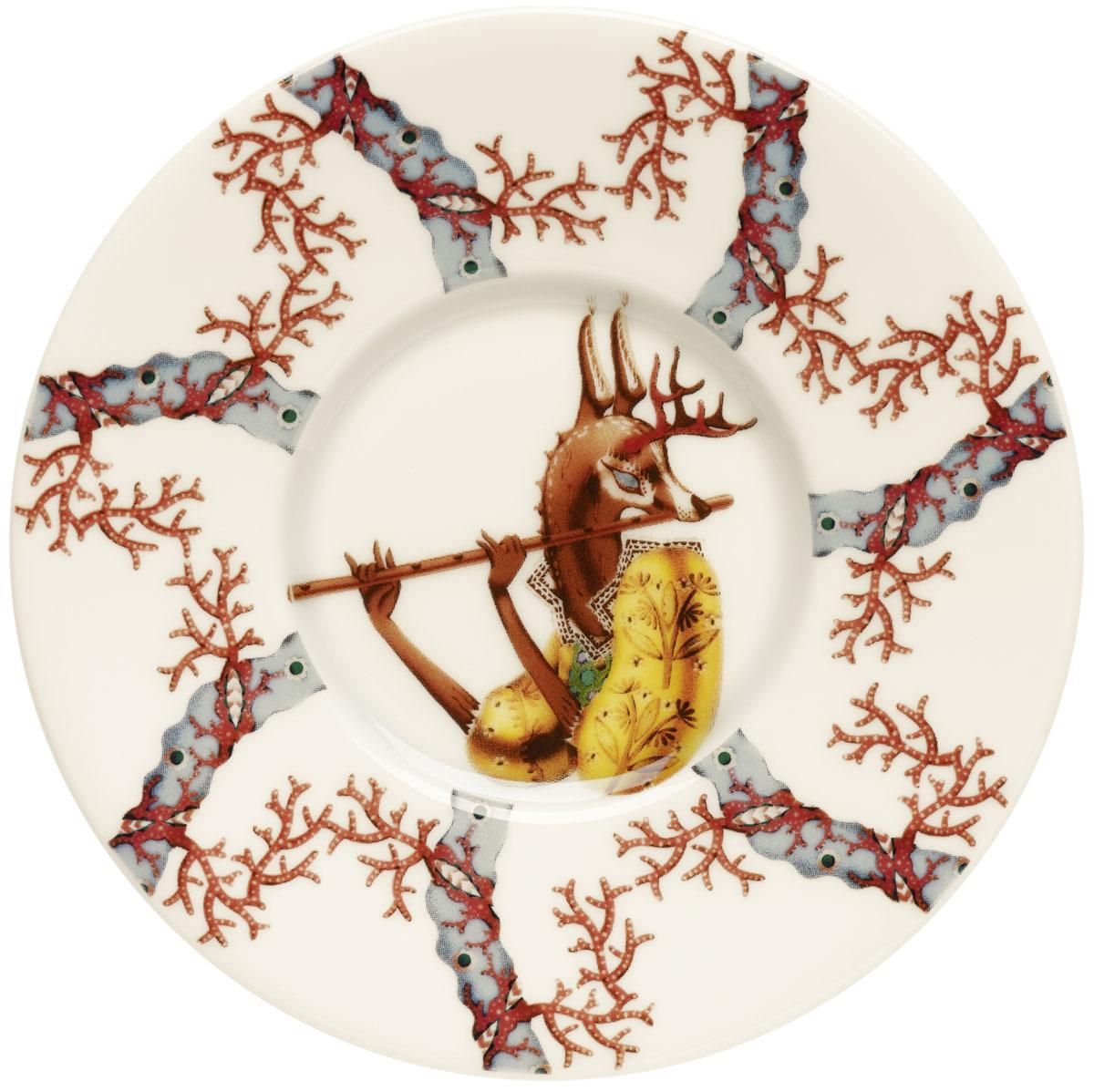 Блюдце Iittala Tanssi, диаметр 15 см1015527Блюдце Iittala Tanssi станет прекрасным украшением вашего праздничного стола. Оно выполнено из качественного фарфора.Диаметр блюдца составляет 15 см.