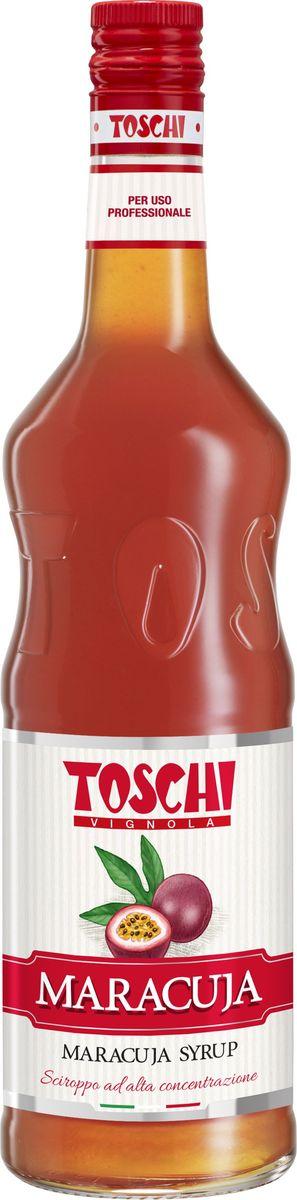 Toschi Маракуйя сироп, 1 лМС-00005648Сироп Маракуйя Toschi отличается изысканным тропическим ароматом и вкусом. Великолепен для приготовления коктейлей лимонадов, тропических напитков. Идеален в качестве дополнения к десертам.О производителе: Компания Тоски Виньола основана в 1945 году как поставщик продуктов питания. Деятельность компании началась с производства фруктов в ликере, далее ассортимент начал включать сиропы, ликеры, вишни в сиропе Amarena, ингредиенты для мороженого и кондитерских изделий, бальзамический уксус и многое другое.За 70 лет развития компания Тоски Виньола значительно расширила ассортимент выпускаемых продуктов. Благодаря высочайшему качеству и использованию натуральных ингредиентов продукция компании Тоски Виньола известна во всем мире. В 2006 году вся продукция Тоски Виньола получила сертификат IFS (Международный пищевой стандарт). Сегодня Тоски Виньола является семейной компанией, ей управляют Джорджио Монторси и Массимо Тоски, которые бережно хранят секреты семейного производства.