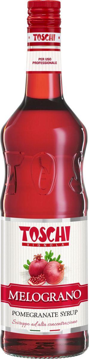 Toschi Гранат сироп, 1 лМС-00005649Сироп Гранат Toschi отличается ярким вкусом и ароматом. Великолепен для приготовления коктейлей, чая, кофе, лимонадов, кондитерских изделий. Идеален в сочетании с ликерами, темным ромом, с апельсиновым и ананасовым соком.О производителе: Компания Тоски Виньола основана в 1945 году как поставщик продуктов питания.Деятельность компании началась с производства фруктов в ликере, далее ассортимент начал включать сиропы, ликеры, вишни в сиропе Amarena, ингредиенты для мороженого и кондитерских изделий, бальзамический уксус и многое другое. За 70 лет развития компания Тоски Виньола значительно расширила ассортимент выпускаемых продуктов. Благодаря высочайшему качеству и использованию натуральных ингредиентов продукция компании Тоски Виньола известна во всем мире. В 2006 году вся продукция Тоски Виньола получила сертификат IFS (Международный пищевой стандарт). Сегодня Тоски Виньола является семейной компанией, ей управляют Джорджио Монторси и Массимо Тоски, которые бережно хранят секреты семейного производства.