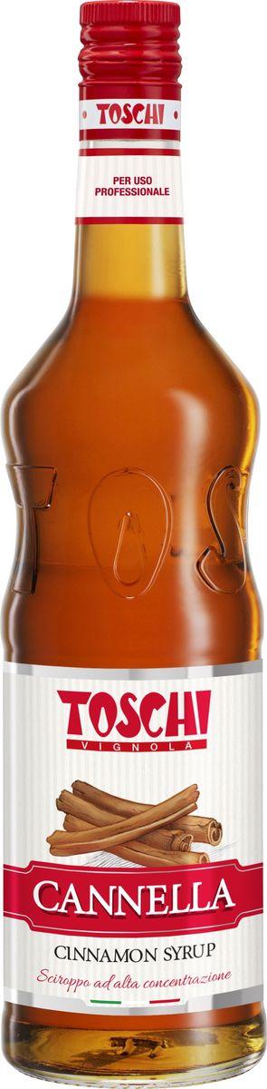 Toschi Корица сироп, 1 лМС-00005660Сироп Корица Toschi отличается гармоничным вкусом и ароматом. Подходит для приготовления алкогольных и безалкогольных коктейлей. Идеален в качестве дополнения к кофе, горячему шоколаду, мороженому, кондитерским изделиям, чайным и молочным напиткам.О производителе: Компания Тоски Виньола основана в 1945 году как поставщик продуктов питания. Деятельность компании началась с производства фруктов в ликере, далее ассортимент начал включать сиропы, ликеры, вишни в сиропе Amarena, ингредиенты для мороженого и кондитерских изделий, бальзамический уксус и многое другое.За 70 лет развития компания Тоски Виньола значительно расширила ассортимент выпускаемых продуктов. Благодаря высочайшему качеству и использованию натуральных ингредиентов продукция компании Тоски Виньола известна во всем мире. В 2006 году вся продукция Тоски Виньола получила сертификат IFS (Международный пищевой стандарт). Сегодня Тоски Виньола является семейной компанией, ей управляют Джорджио Монторси и Массимо Тоски, которые бережно хранят секреты семейного производства.