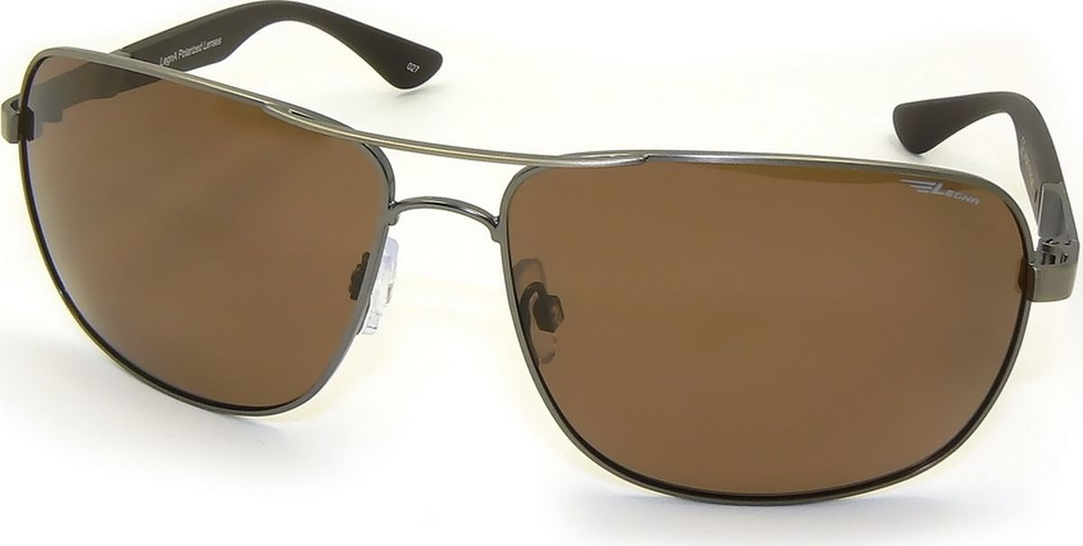 Очки поляризационные мужские Legna, цвет: коричневый, серый. S4504DINT-06501Солнцезащитные очки LEGNA с поляризационными линзами превосходно предохраняют глаза от любого рода вредных бликов и УФ-лучей, что делает вождение безопасным и комфортным. Также очки LEGNA ничем не уступают самым известным маркам и брендам в эстетической части. Благодаря линзам премиум класса очки LEGNA прекрасно подходят для повседневной носки, занятий спортом, отдыха и конечно для использования за рулем.