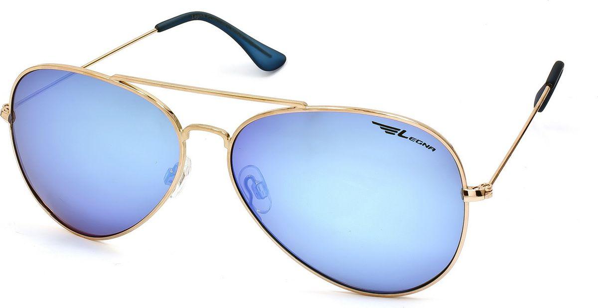 Очки поляризационные Legna, цвет: голубой металлик, золотой. S4704A1-022_516Солнцезащитные очки LEGNA с поляризационными линзами превосходно предохраняют глаза от любого рода вредных бликов и УФ-лучей, что делает вождение безопасным и комфортным. Также очки LEGNA ничем не уступают самым известным маркам и брендам в эстетической части. Благодаря линзам премиум класса очки LEGNA прекрасно подходят для повседневной носки, занятий спортом, отдыха и конечно для использования за рулем.