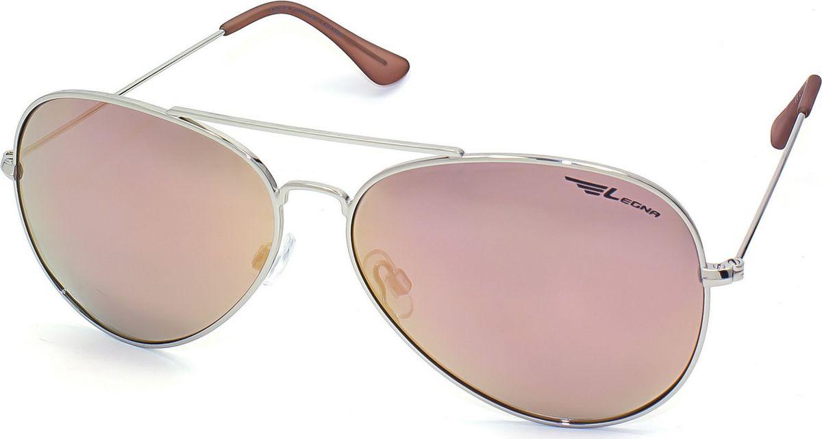 Очки поляризационные Legna, цвет: розовый металлик, серый металлик. S4704BINT-06501Солнцезащитные очки LEGNA с поляризационными линзами превосходно предохраняют глаза от любого рода вредных бликов и УФ-лучей, что делает вождение безопасным и комфортным. Также очки LEGNA ничем не уступают самым известным маркам и брендам в эстетической части. Благодаря линзам премиум класса очки LEGNA прекрасно подходят для повседневной носки, занятий спортом, отдыха и конечно для использования за рулем.