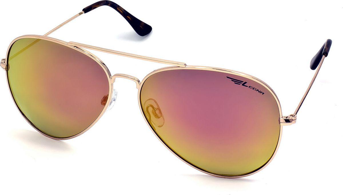Очки поляризационные Legna, цвет: оранжевый, золотой. S4704C1-022_516Солнцезащитные очки LEGNA с поляризационными линзами превосходно предохраняют глаза от любого рода вредных бликов и УФ-лучей, что делает вождение безопасным и комфортным. Также очки LEGNA ничем не уступают самым известным маркам и брендам в эстетической части. Благодаря линзам премиум класса очки LEGNA прекрасно подходят для повседневной носки, занятий спортом, отдыха и конечно для использования за рулем.