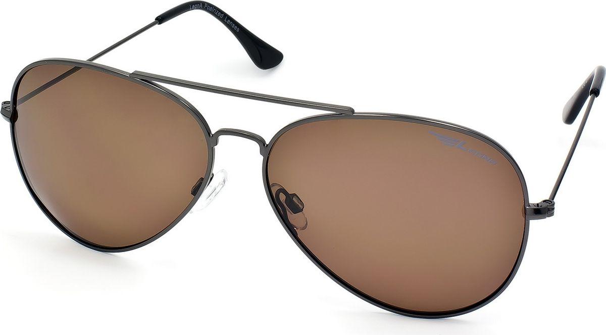 Очки поляризационные Legna, цвет: коричневый, серый. S4704D1-022_516Солнцезащитные очки LEGNA с поляризационными линзами превосходно предохраняют глаза от любого рода вредных бликов и УФ-лучей, что делает вождение безопасным и комфортным. Также очки LEGNA ничем не уступают самым известным маркам и брендам в эстетической части. Благодаря линзам премиум класса очки LEGNA прекрасно подходят для повседневной носки, занятий спортом, отдыха и конечно для использования за рулем.