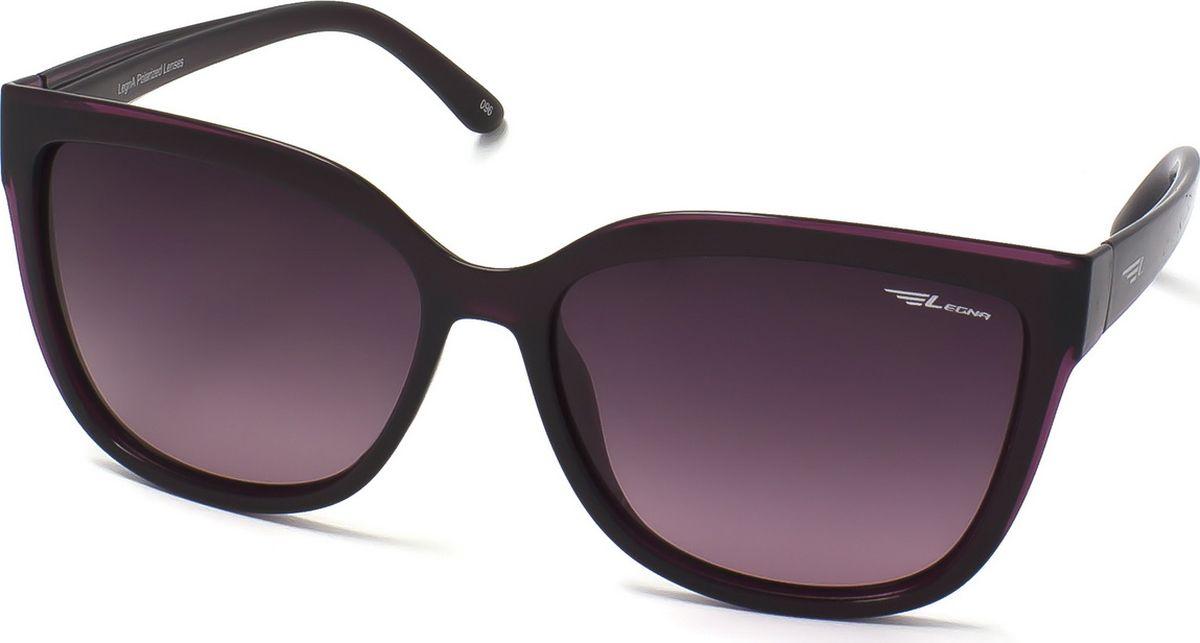 Очки поляризационные женские Legna, цвет: фиолетовый, фиолетовый. S8701B1-022_516Солнцезащитные очки LEGNA с поляризационными линзами превосходно предохраняют глаза от любого рода вредных бликов и УФ-лучей, что делает вождение безопасным и комфортным. Также очки LEGNA ничем не уступают самым известным маркам и брендам в эстетической части. Благодаря линзам премиум класса очки LEGNA прекрасно подходят для повседневной носки, занятий спортом, отдыха и конечно для использования за рулем.