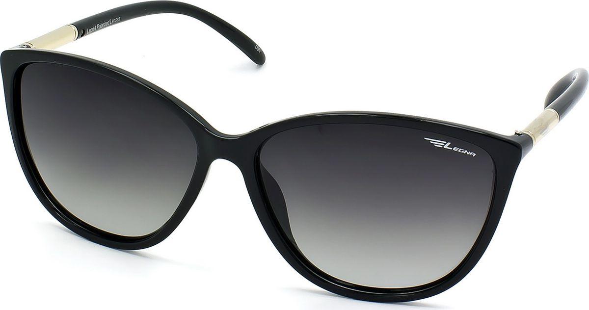 Очки поляризационные женские Legna, цвет: зеленый, черный. S8705AINT-06501Солнцезащитные очки LEGNA с поляризационными линзами превосходно предохраняют глаза от любого рода вредных бликов и УФ-лучей, что делает вождение безопасным и комфортным. Также очки LEGNA ничем не уступают самым известным маркам и брендам в эстетической части. Благодаря линзам премиум класса очки LEGNA прекрасно подходят для повседневной носки, занятий спортом, отдыха и конечно для использования за рулем.