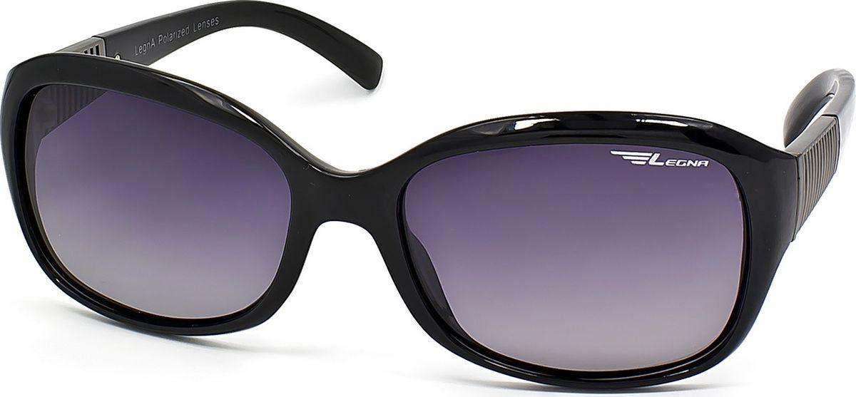Очки поляризационные женские Legna, цвет: серый, черный. S8708ABM8434-58AEСолнцезащитные очки LEGNA с поляризационными линзами превосходно предохраняют глаза от любого рода вредных бликов и УФ-лучей, что делает вождение безопасным и комфортным. Также очки LEGNA ничем не уступают самым известным маркам и брендам в эстетической части. Благодаря линзам премиум класса очки LEGNA прекрасно подходят для повседневной носки, занятий спортом, отдыха и конечно для использования за рулем.