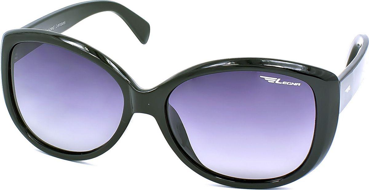 Очки поляризационные женские Legna, цвет: серый, черный. S8710A1-022_516Солнцезащитные очки LEGNA с поляризационными линзами превосходно предохраняют глаза от любого рода вредных бликов и УФ-лучей, что делает вождение безопасным и комфортным. Также очки LEGNA ничем не уступают самым известным маркам и брендам в эстетической части. Благодаря линзам премиум класса очки LEGNA прекрасно подходят для повседневной носки, занятий спортом, отдыха и конечно для использования за рулем.