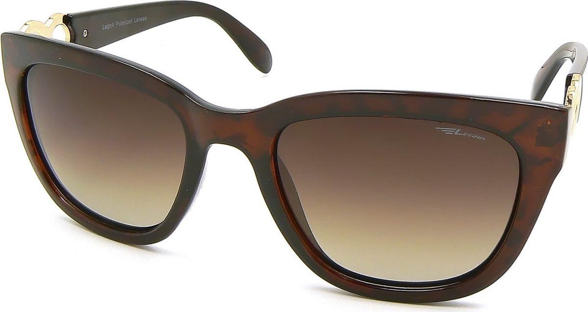 Очки поляризационные женские Legna, цвет: коричневый, темно-коричневый. S8713C1-022_516Солнцезащитные очки LEGNA с поляризационными линзами превосходно предохраняют глаза от любого рода вредных бликов и УФ-лучей, что делает вождение безопасным и комфортным. Также очки LEGNA ничем не уступают самым известным маркам и брендам в эстетической части. Благодаря линзам премиум класса очки LEGNA прекрасно подходят для повседневной носки, занятий спортом, отдыха и конечно для использования за рулем.