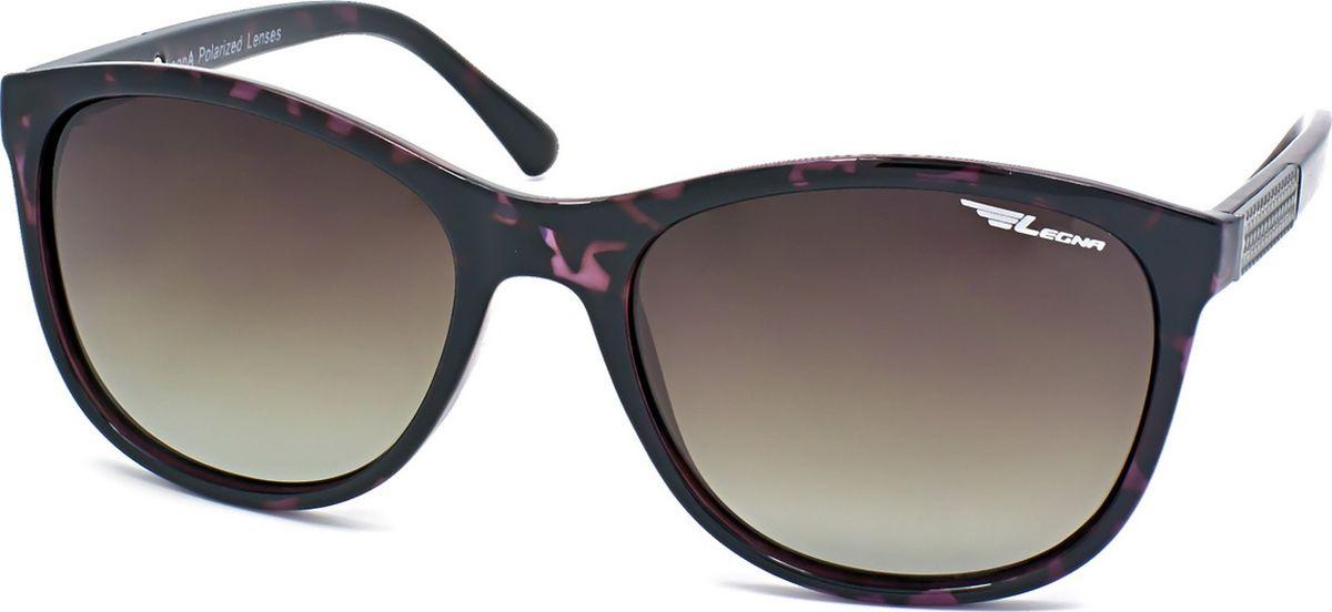 Очки поляризационные женские Legna, цвет: коричневый. S8715CINT-06501Солнцезащитные очки LEGNA с поляризационными линзами превосходно предохраняют глаза от любого рода вредных бликов и УФ-лучей, что делает вождение безопасным и комфортным. Также очки LEGNA ничем не уступают самым известным маркам и брендам в эстетической части. Благодаря линзам премиум класса очки LEGNA прекрасно подходят для повседневной носки, занятий спортом, отдыха и конечно для использования за рулем.