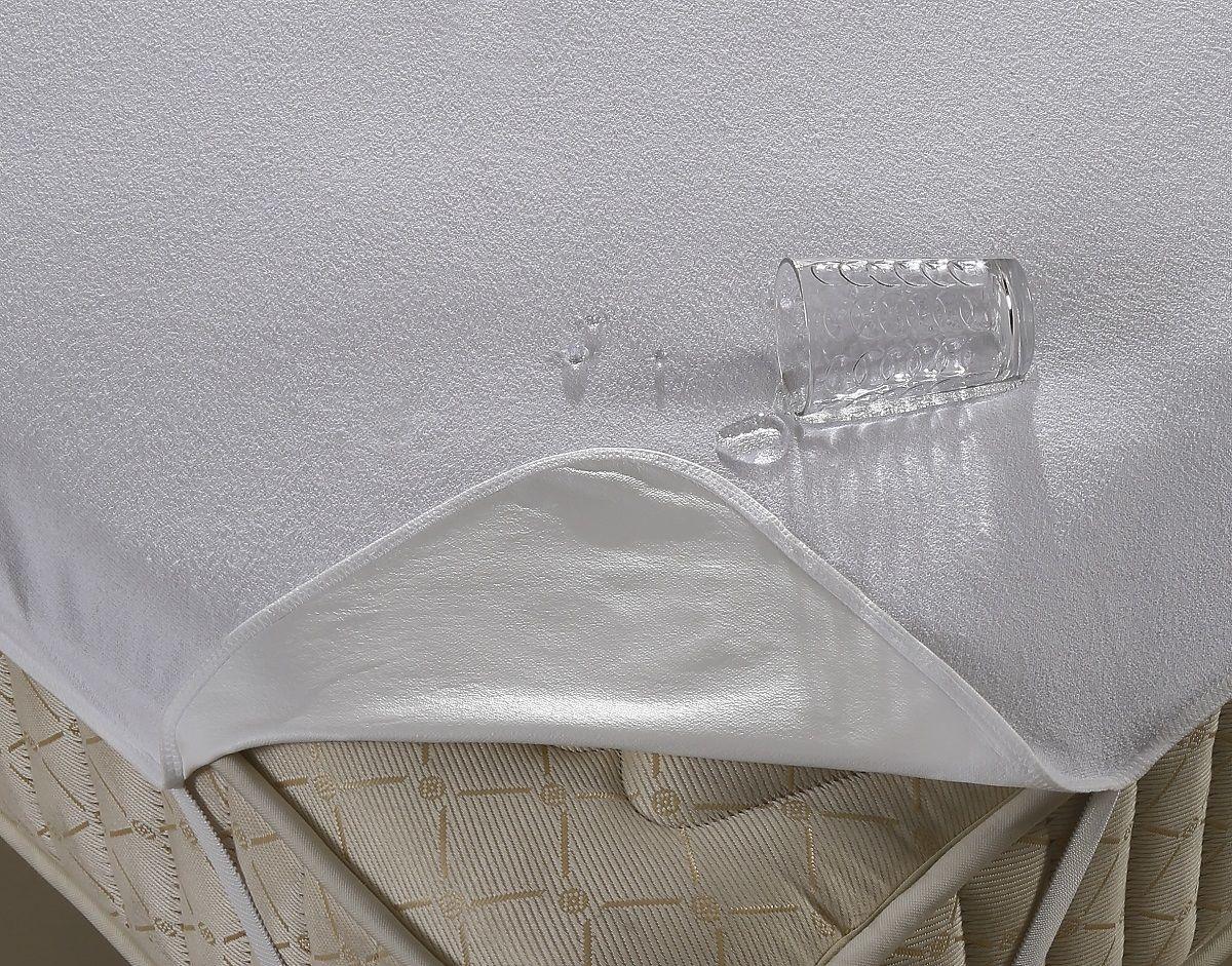 Наматрасник Karna, с пропиткой, 100 х 200 см. 24472447Наматрасник Karna сочетает в себе огромное количество полезных и удобных в использовании качеств. Наматрасник водонепроницаемый, не впитывает посторонние запахи, не требует глажения, антибактериальный. Лицевая сторона изготовлена из 100% хлопка, внутренняя сторона представляет собой мембранную ткань. Наматрасник обладает легким массажным воздействием на тело человека и не вызывают раздражения кожи.