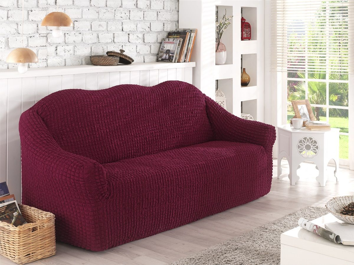 Чехол для двухместного дивана Karna, без юбки. 2651/CHAR0022651/CHAR002Чехол для дивана Karna выполнен из высококачественного полиэстера и хлопка. Такой чехол изысканно дополнит интерьер вашего дома. В комплект входят фиксаторы позволяющие надежно закрепить чехол на вашей мебели. Они вставляются в расстояние между спинкой и сиденьем, фиксируя чехол в одном положении, и не позволяют ему съезжать и терять форму. Фиксаторы особенно необходимы в том случае, если у вас кожаная мебель или мебель нестандартных габаритов. Ширина посадочных мест: 140-180 см. Глубина посадочных мест: 70-80 см. Высота спинки от посадочного места: 70-80 см. Ширина подлокотников: 25-35 см.