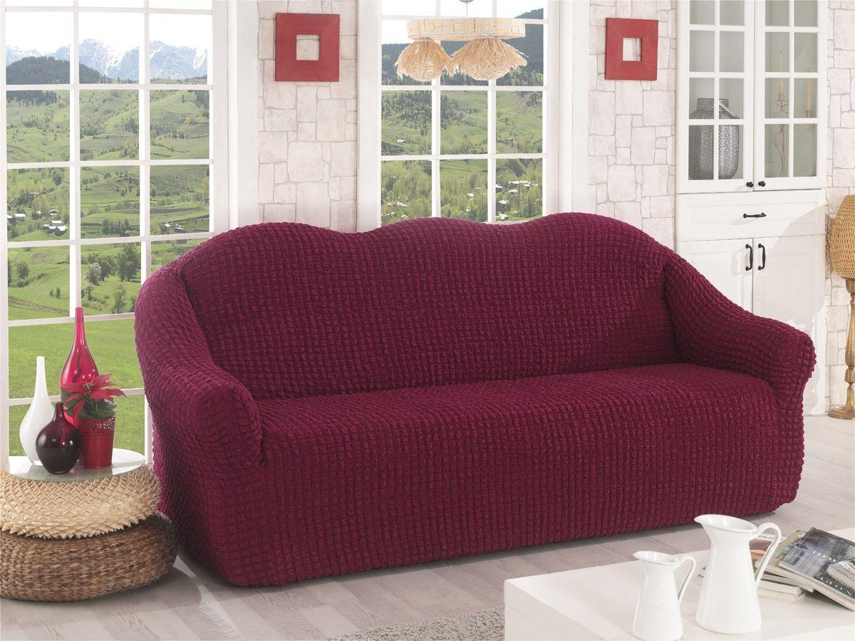 Чехол для трехместного дивана Karna, без юбки, цвет: бордовый. 2652/CHAR0022652/CHAR002Чехол для дивана Karna изготовлен на 60% из полиэстера и на 40% из хлопка.В комплект входят фиксаторы, позволяющие надежно закрепить чехол на мебели. Они вставляются в расстояние между спинкой и сиденьем, фиксируя чехол в одном положении, и не позволяют ему съезжать и терять форму. Фиксаторы особенно необходимы в том случае, если у вас кожаная мебель или мебель нестандартных габаритов. Ширина посадочных мест: 210-260 см.Глубина посадочных мест: 70-80 см.Высота спинки от посадочного места: 70-80 см.