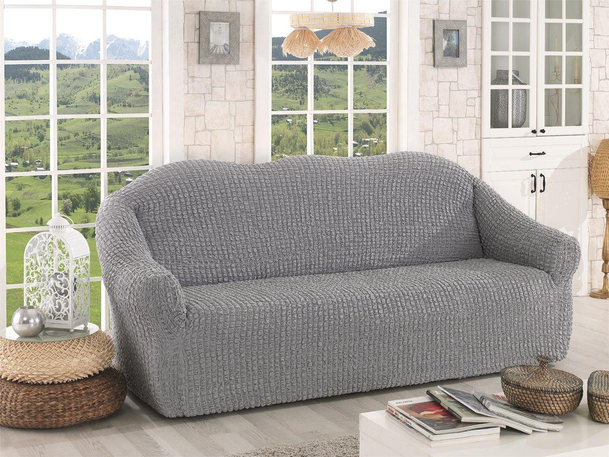 Чехол для трехместного дивана Karna, без юбки, цвет: серый.2652/CHAR0072652/CHAR007