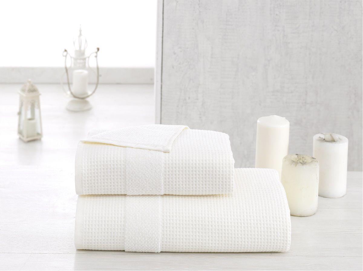 Полотенце Karna Truva, цвет: белый, 50 х 100 см