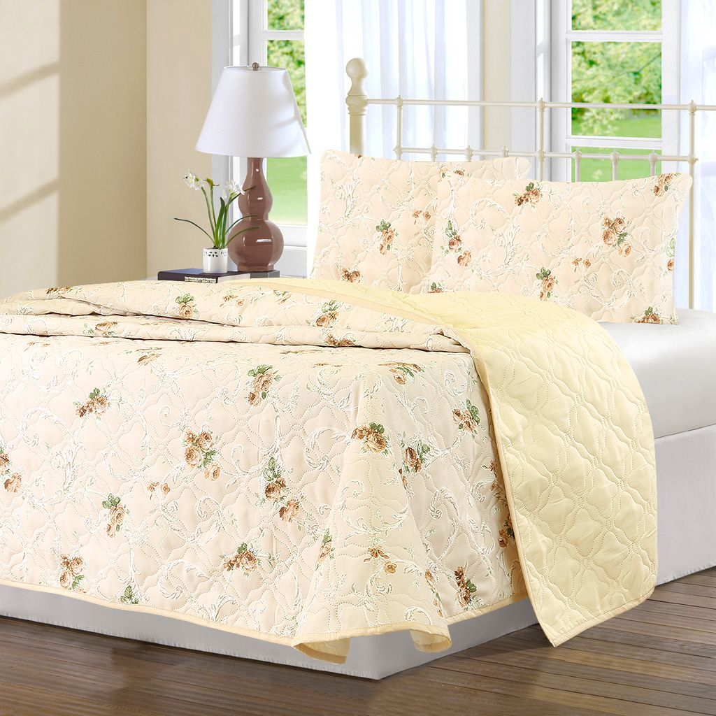 Комплект для спальни Karna Modalin. Avasin: покрывало 220 х 240 см, 2 наволочки 50x70 см, цвет: бежевый