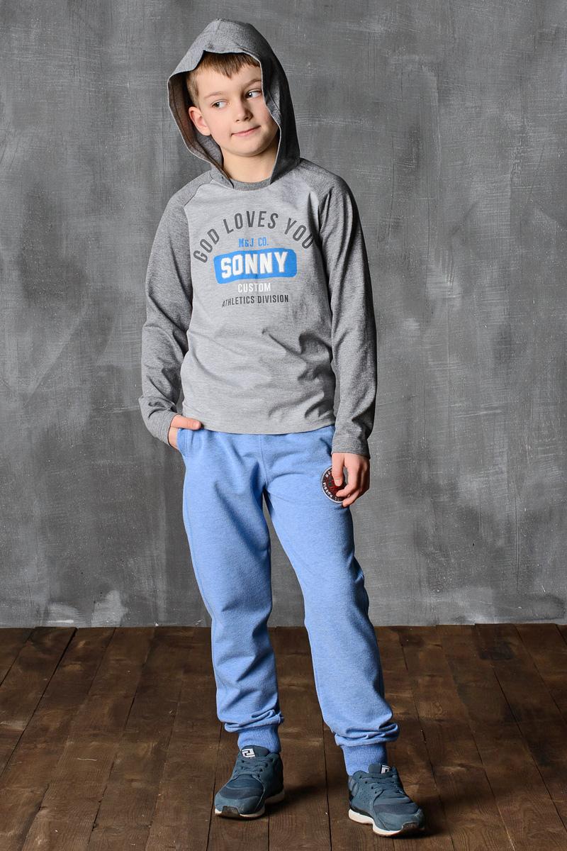 Лонгслив для мальчика Modniy Juk, цвет: серый, темно-серый. 02B00060100. Размер 122/128 джемперы modniy juk джемпер