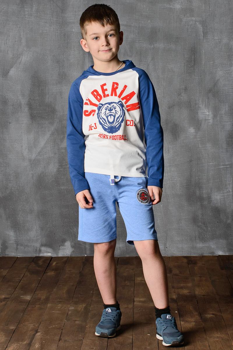 Лонгслив для мальчика Modniy Juk, цвет: синий, экрю. 02B00060100. Размер 140/146 джемперы modniy juk джемпер