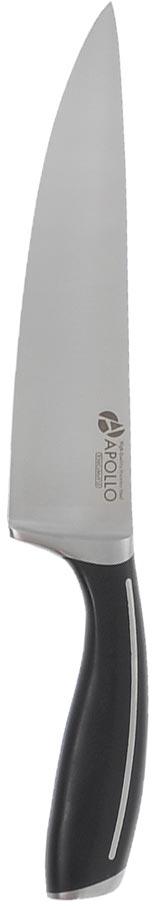 Нож кухонный Apollo Fuerte, 20 смFRT-02Кухонный нож Apollo Fuerte предназначендля нарезки различных продуктов. Лезвие выполнено из высококачественной нержавеющей хром-молибден-ванадиевой стали. Благодаря уникальной формуле стали и качеству ее обработки, лезвие имеет высокий показатель твердости по Роквеллу (hrc 55-57), что позволяет ему долго сохранять острую заточку. Комфортная, гладкая и практически бесшовная рукоятка делает нож эталоном гигиеничности и эргономичности. А строгий, классический дизайн ножа прекрасно подойдет к любой кухне.
