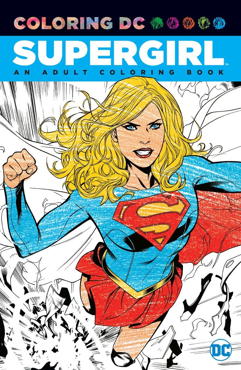 Supergirl: An Adult Coloring Book new in stock vi 241 cu b1 page 3