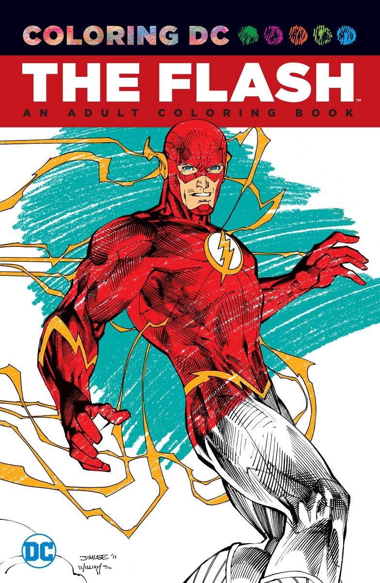 The Flash: An Adult Coloring Book the dc comics guide to coloring and lettering comics
