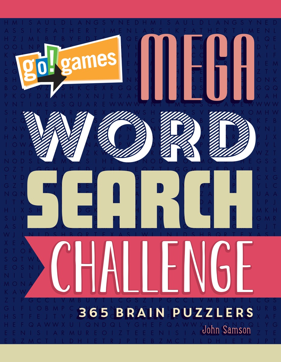 Go!Games Mega Word Search Challenge 30pcs in one postcard take a walk on the go dubai arab emirates christmas postcards greeting birthday message cards 10 2x14 2cm