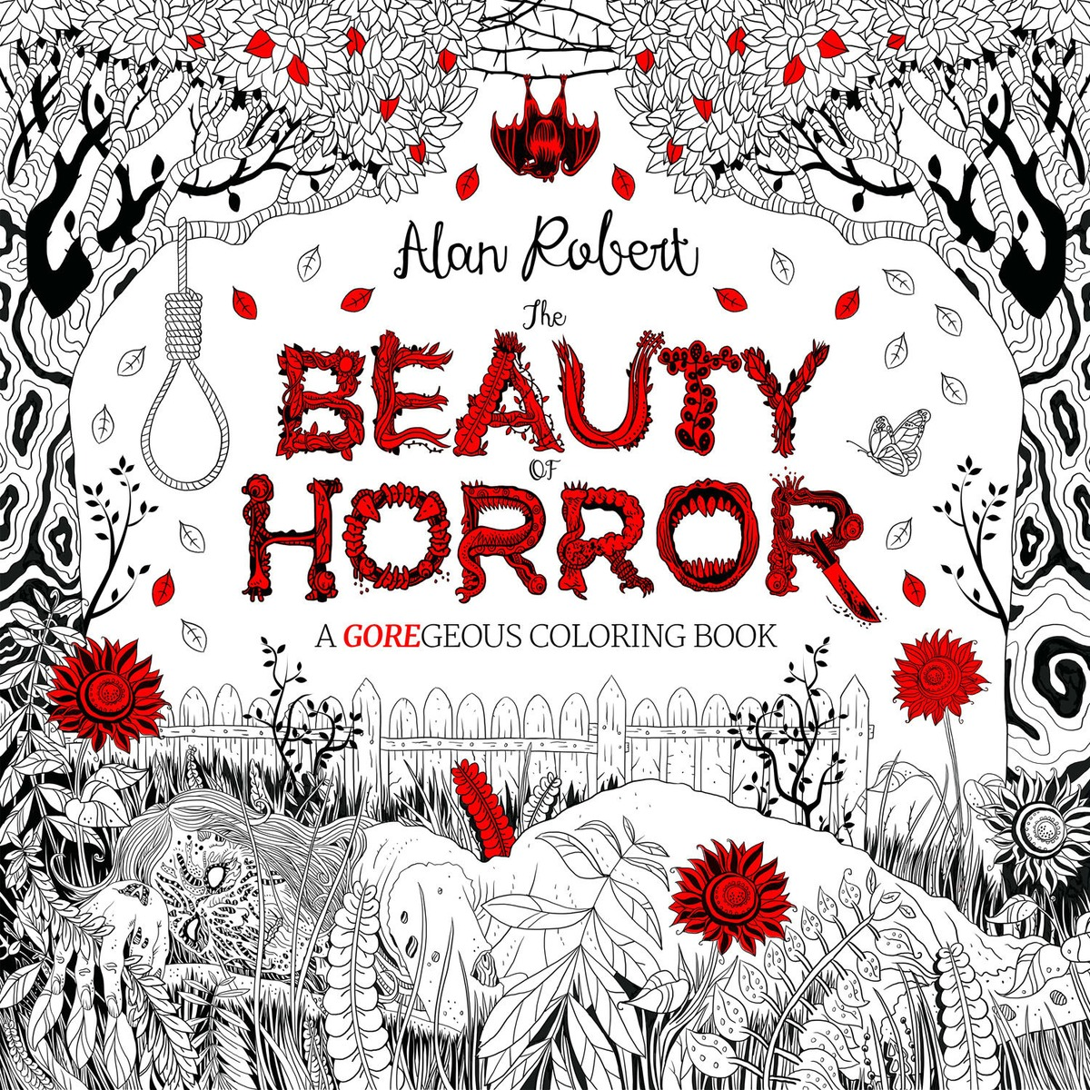 The Beauty of Horror: A GOREgeous Coloring Book coloring of trees