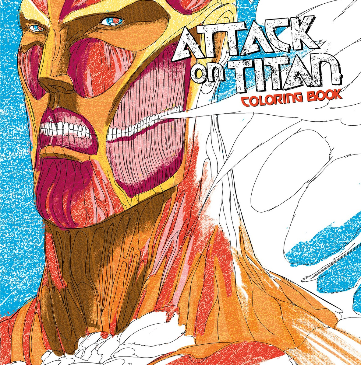 Attack on Titan Adult Coloring Book coloring of trees