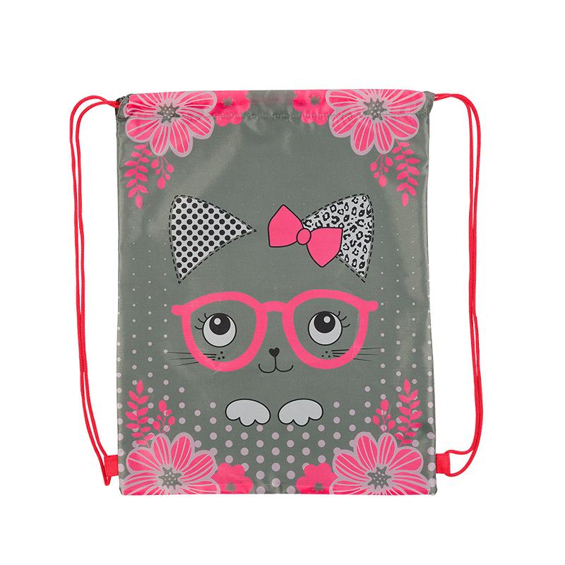 Maxi Toys Мешок для обуви для девочки Котенок в Очках цвет розовыйMT-112016-3