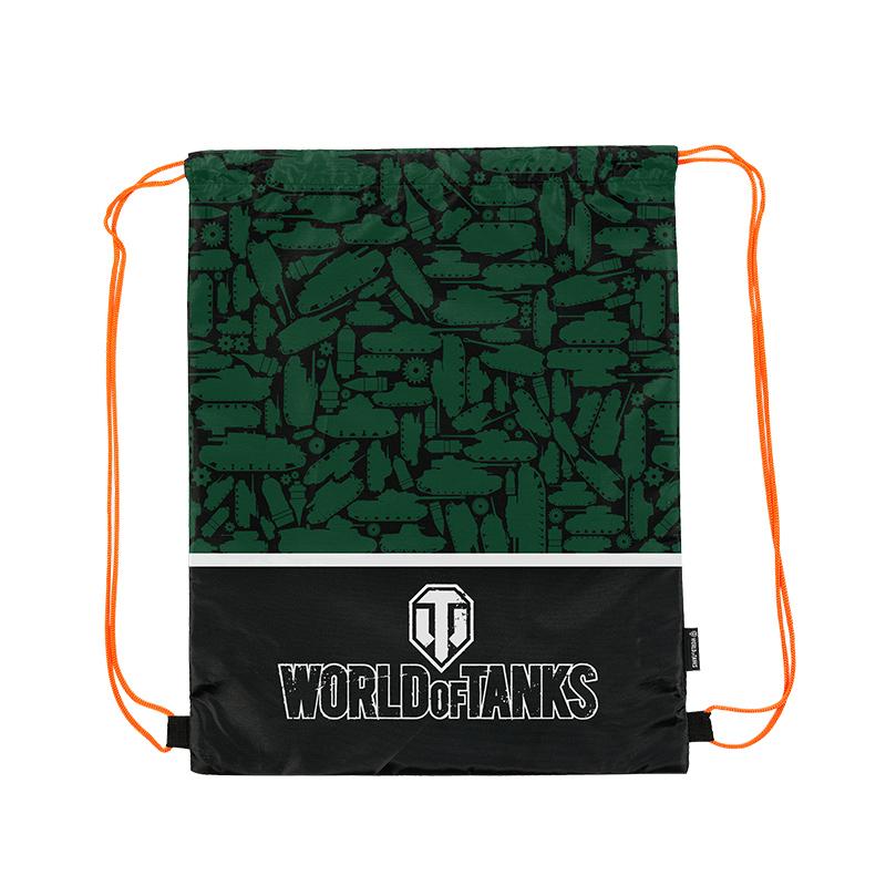 World Of Tanks Мешок для обуви для мальчика цвет зеленый