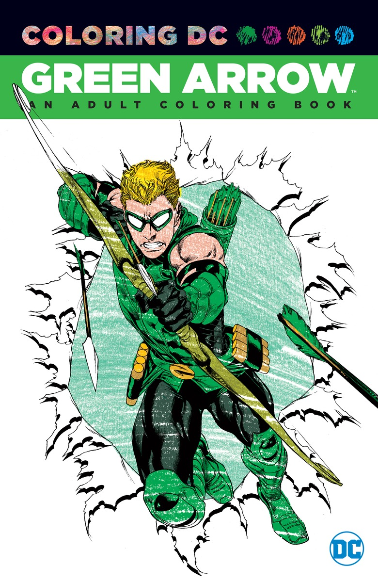 Green Arrow: An Adult Coloring Book coloring of trees