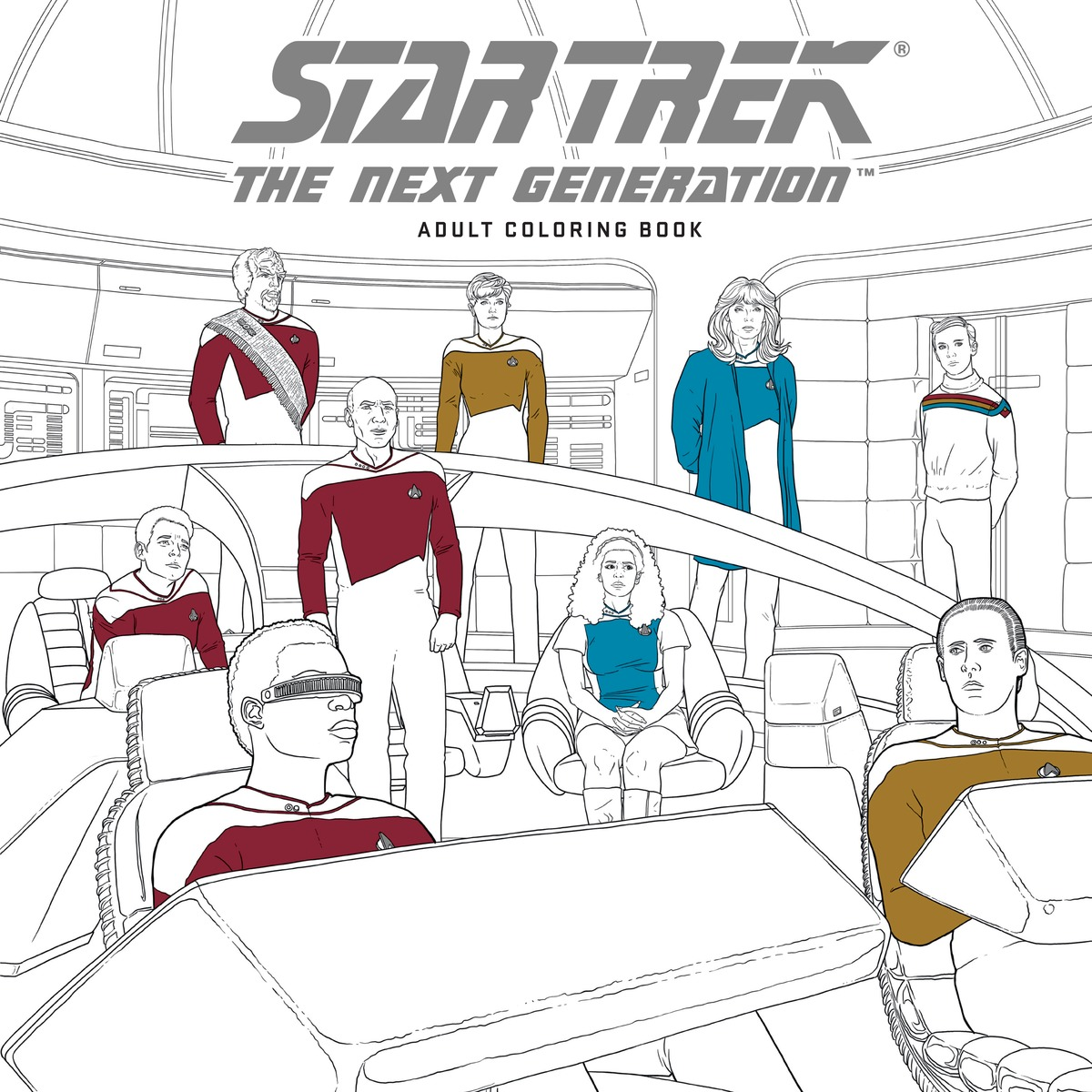 Star Trek: The Next Generation: Adult Coloring Book generation next