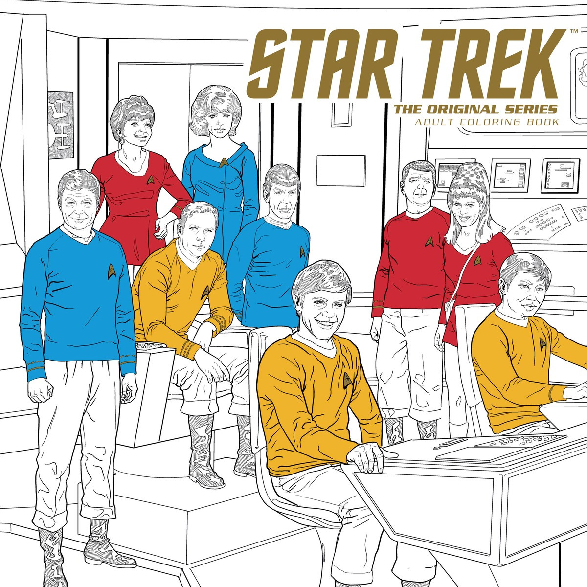 Star Trek: The Original Series Adult Coloring Book fantastic cities a coloring book of amazing places real and imagined