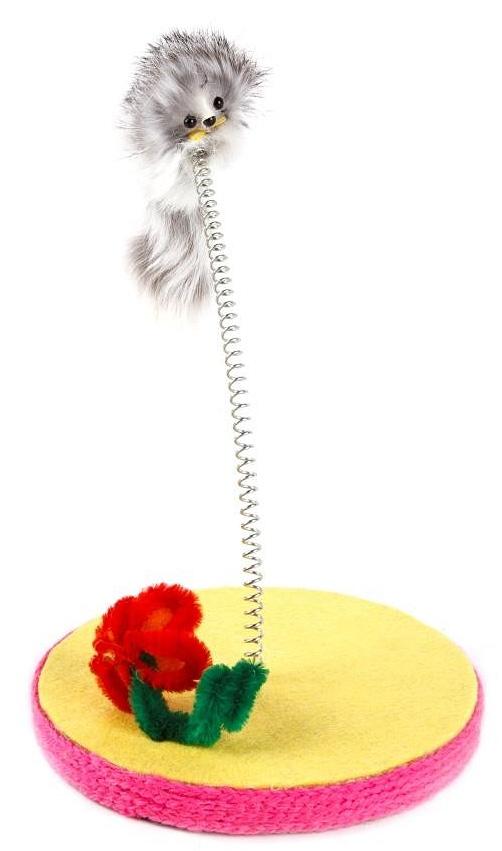 Игрушка-дразнилка для кошек GLG Кошка с ленточками кошка игрушка анжела