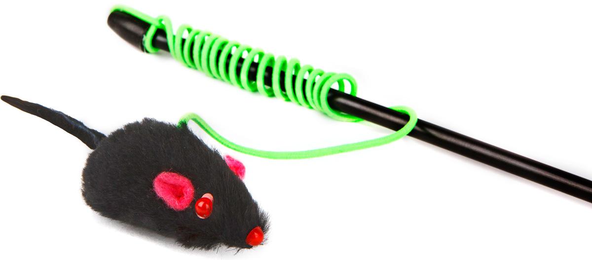 Игрушка-дразнилка для кошек GLG Мышка, длина 60 см