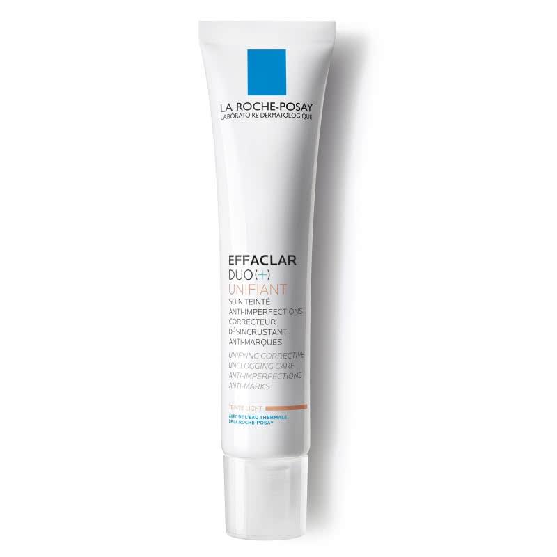 La Roche-Posay Effaclar Duo+Тонирующий Светлый 40 млM9114500Тонирующий уход Effaclar DUO(+) для проблемной кожи с выраженными несовершенствами, остаточными следами (постакне) мгновенно корректирует несовершенства и постакне в виде красных и темных пятен. Тон кожи выровнен без эффекта маски. Некомедогенно. Воздействие:• Мгновенно выравнивает тон кожи• Сокращает выраженные несовершенства• Корректирует и предотвращает появление постакне• Снижает выработку кожного сала• Эффективен через 24 часа после первого примененияЭффективность:Через 8 дней: несовершенства значительно сокращаются*. Через 4 недели: поры очищены, поверхность кожи выравнена, жирный блеск уменьшается**