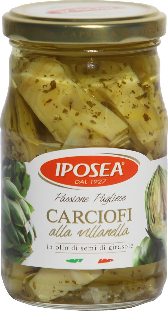 Iposea Артишоки резаные Виланелла, 170 г 1000 салатов и закусок