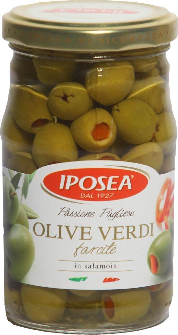 Iposea Оливки с перцем, 290 г korvel натуральные оливки каламата с косточкой джамбо 290 г
