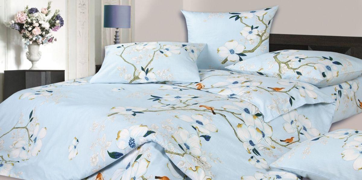 Комплект белья Ecotex Соло, 1,5-спальный, наволочки 70х70, цвет: голубой, белыйКГ1Комплект постельного белья Ecotex выполнен из сатина (100% хлопок). Комплект состоит из пододеяльника, простыни и 2 наволочек. Белье дополнено цветочным рисунком. Постельное белье из коллекции Гармоника - это уникальное сочетание мягкости и нежности благородного сатина со свежестью дизайнерских решений. Коллекция рассчитана на взыскательных потребителей, ценящих стиль, оригинальный дизайн, а также собственный комфорт и нежное прикосновение ткани.
