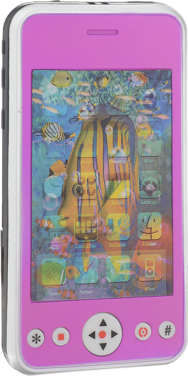 S+S Toys Электронная игрушка Смартфон цвет розовый игровые телефоны s s смартфон