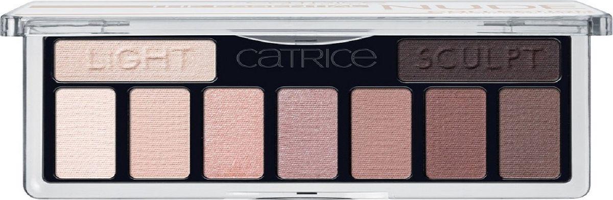 Catrice Тени для век The Essential Nude Collection Eyeshadow Palette 010 нюдовые, 83 г221764Девять высокопигментированных и стойких оттенков, включая темный матовый для контуринга глаз, а также хайлайтер для расстановки световых акцентов.