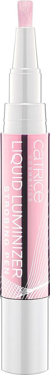 Catrice Люминайзер Liquid Luminizer Strobing Pen 010 Sleeping Beautys Rose розовое золото, 17 г221898Жидкий люминайзер для стробинга выполнен в форме карандаша с аккуратной кисточкой-аппликатором.Легкая текстура средства насыщена мельчайшими светоотражающими частицами и легко растушевывается, придавая коже эффектное сияние и подчеркивая рельеф лица.