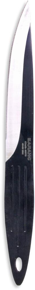 Нож метательный Ножемир Баланс, нержавеющая сталь, с ножнами, общая длина 21,3 см. M-117-3M-117-3Нож Ножемир Баланс сочетает в себе характеристики метательного ножа и ножа скелетного типа. Обладает острым и твердым кончиком, который обеспечивает уверенное вхождение в мишень при броске. Геометрия ножа позволяет использовать его для метания. Метательный нож Ножемир Баланс выполнен из цельного куска стали. Такая конструкция обеспечивает ножу высокую прочность и максимальную надежность при метании на большие расстояния. В комплекте с ножом поставляется удобный нейлоновый чехол для ношения на поясе.Общая длина ножа: 21,3 см.