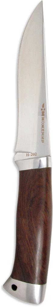 Нож нескладной Ножемир, нержавеющая сталь, с ножнами, общая длина 25,5 см. H-202H-202Нож нескладной Ножемир - это популярный клинок, выполненный в традиционной манере охотничьего режущего инструмента. Изделие имеет острое лезвие из закаленной, нержавеющей стали марки 40х13, которая обладает высокими показателями износоустойчивости и надежности. Рукоять ножа выполнена из дерева венге, что придает изделию особый стиль и богатство. Рукоять имеет удобную форму, что позволяет изделию удобно держаться в руке. Такой нож можно использовать для любых задач на охоте, рыбалке или во время похода для приготовления пищи, разделки дичи или применять в качестве средства самозащиты.В комплекте с ножом также представлен прочный чехол из кордуры. Он защищает лезвие от возможных царапин и позволяет безопасно его транспортировать. Общая длина ножа: 25,5 см.