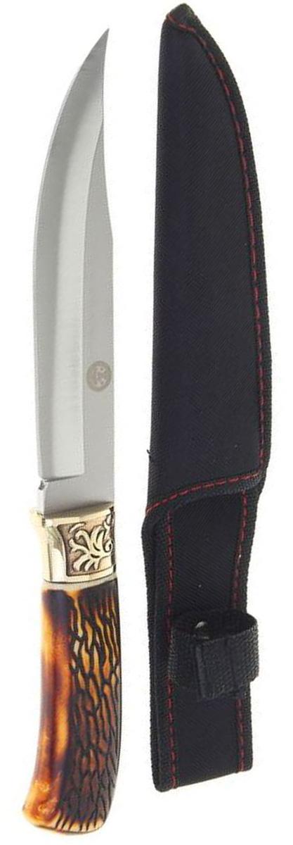 Нож с ручкой под кость, 27,5 х 2 см. 12161251216125Нож – неотъемлемый атрибут настоящего мужчины. Издревле ножи и клинки вручались знатным особам за проявление отваги и чести на военной службе. Такие подарки очень ценились и становились семейными реликвиями. Сегодня нож - это прекрасный подарок,который подойдет любому мужчине